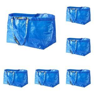 6 Pack IKEA Frakta 19 Gallon Tote Bag PRICE FIRM